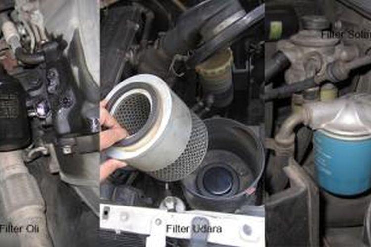 Gejala Kerusakan Mesin Bertiup ke Filter Udara